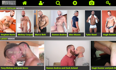 Popular gay porn site for bareback sex videos.
