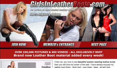 best premium porn site with girlish leather boots